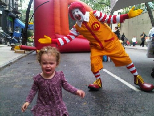 ronald-scares-girl