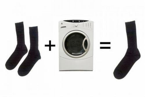 washing maching and socks