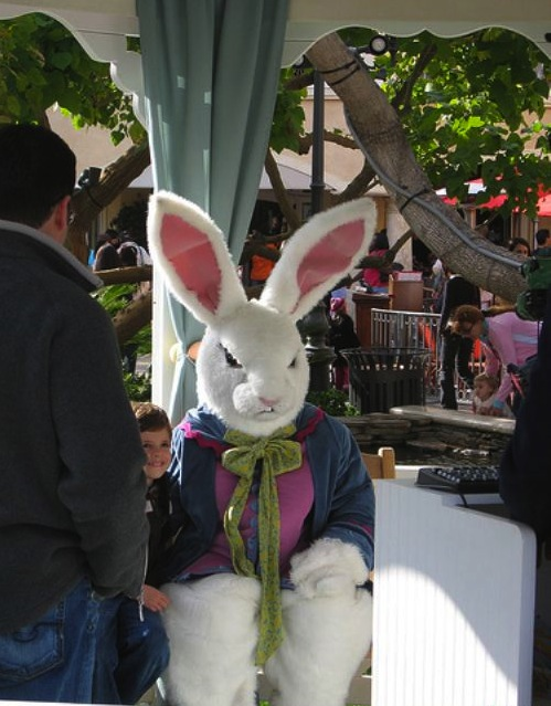 angry looking easter bunny