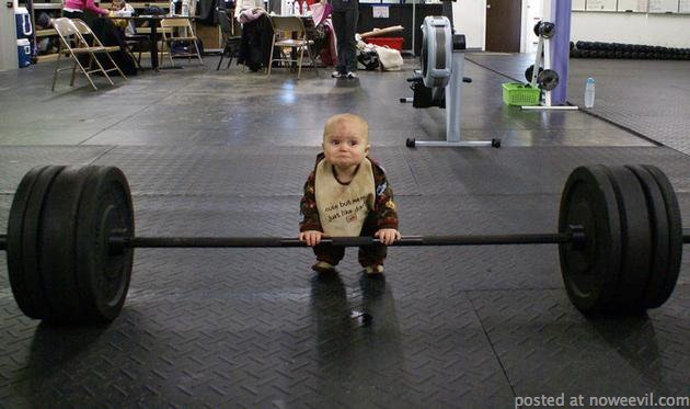 baby weightlifting