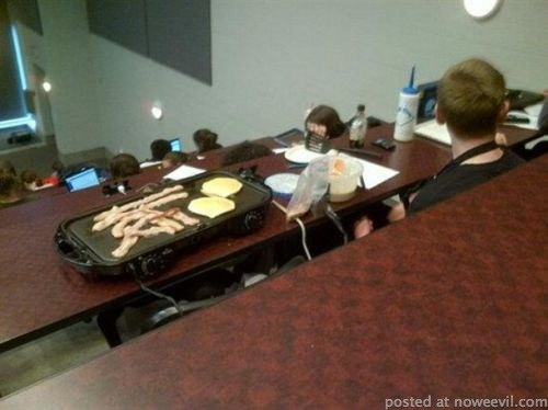 bacon and eggs in class