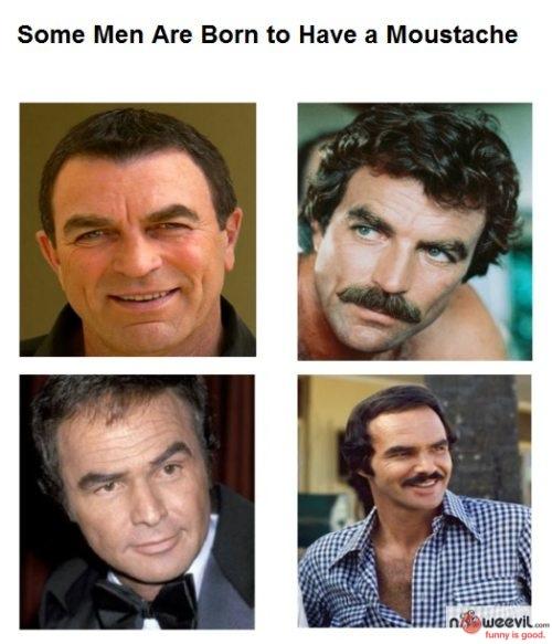 born for mustache