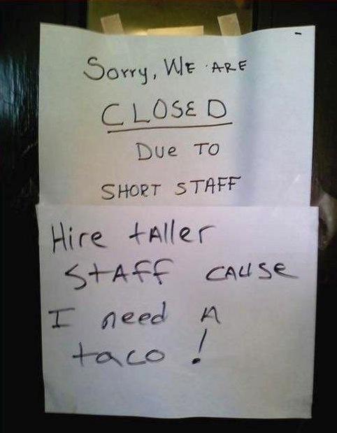 closed taco shop