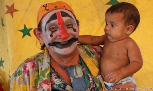 clown and baby