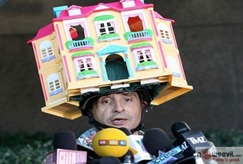 doll house on head