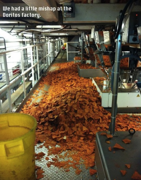 doritos factory mishap