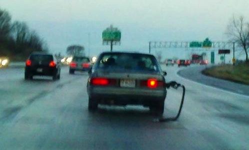gas hose on car 2