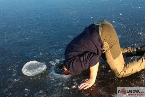 head in ice