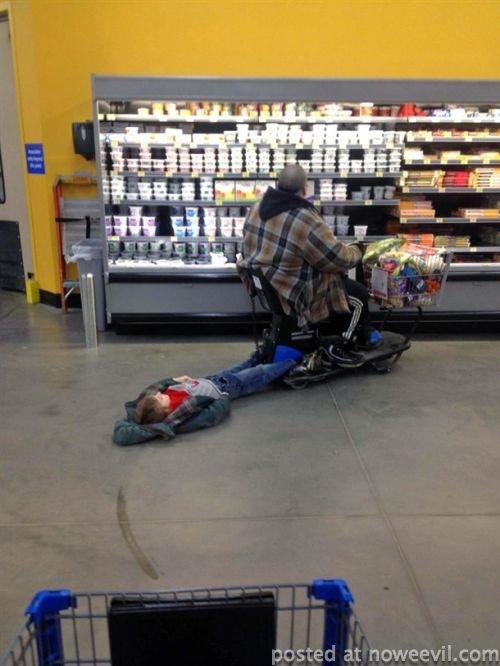 kid getting dragged