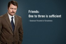 ron swanson friends
