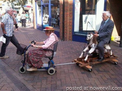 seniors on carts