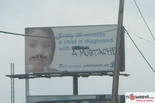 silly ads mustache