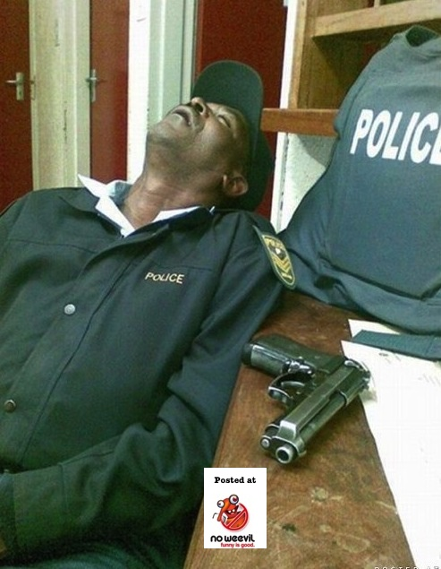 sleeping police