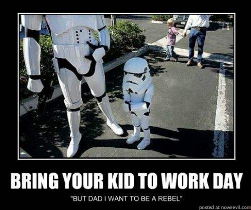 storm troopers work day