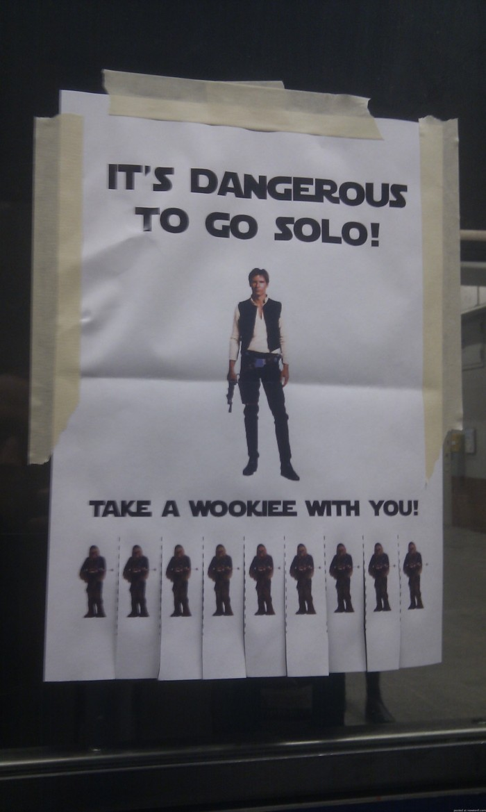 take a wookie with you