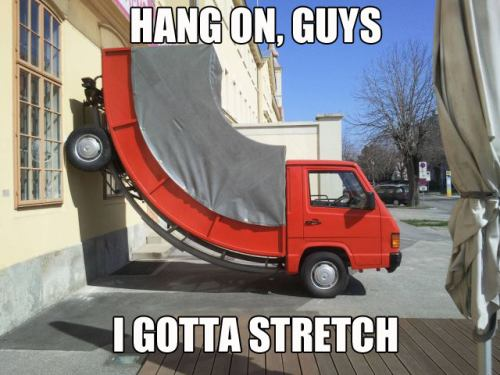 truck stretching