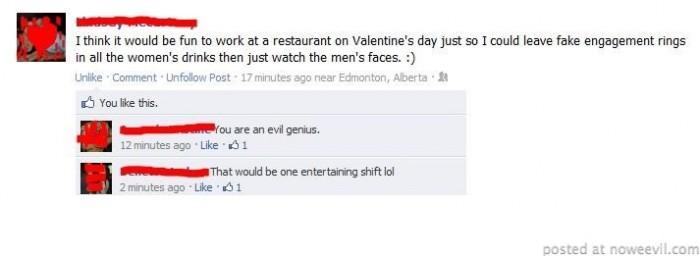 valentines facebook status