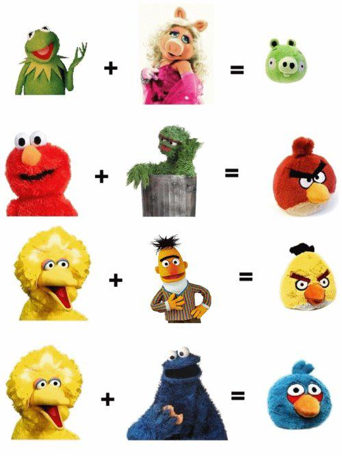 angry birds and muppets