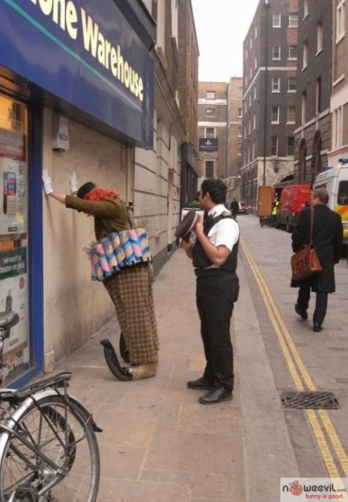 clown getting arrested
