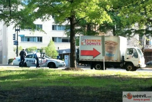 cops and dunkin donuts