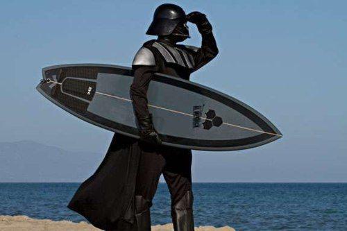 darth vader surfing