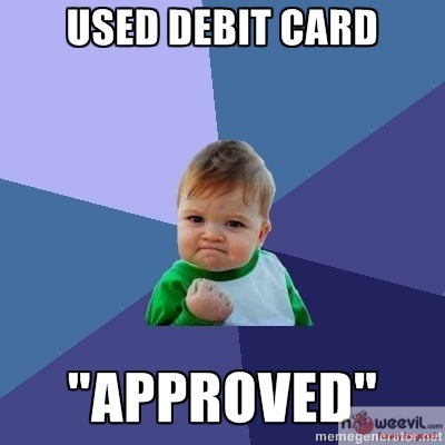 debit card approved