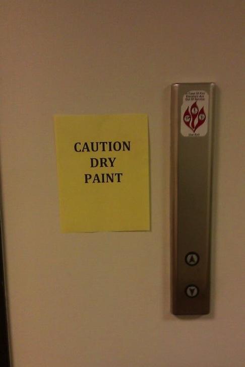 dry paint