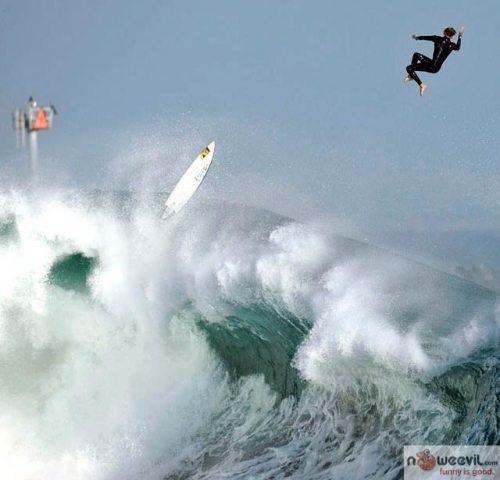 high surfer jump