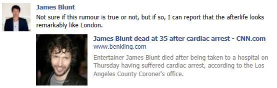 james blunt facebook