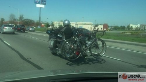 motorcycle with bike