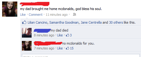 no macdonalds facebook