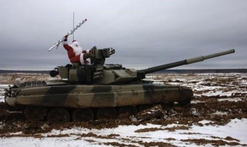 santa and tank