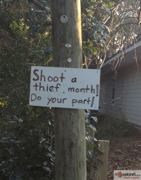 shoot a thief