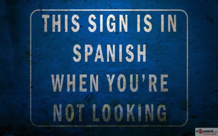 sign in spanish