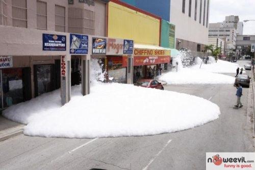 snow on road