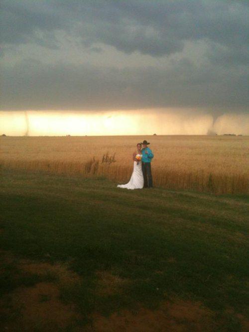 tornado wedding pic