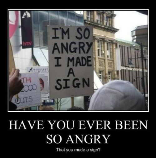 angry sign