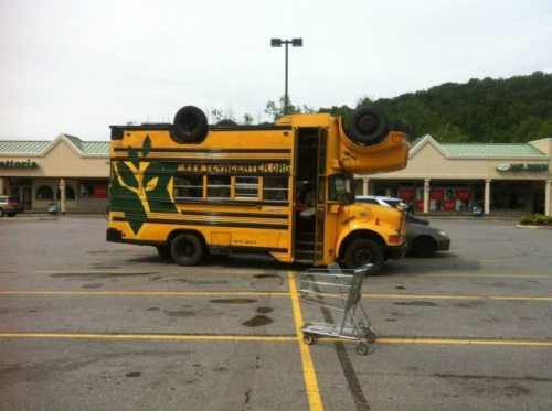 school bus weird