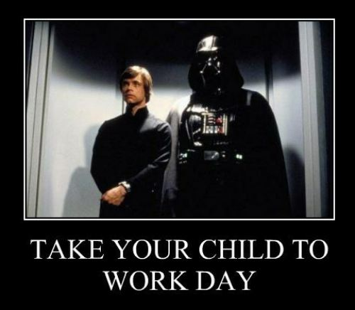 star wars child to work