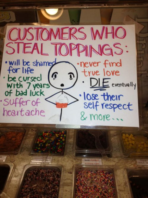 steal toppings
