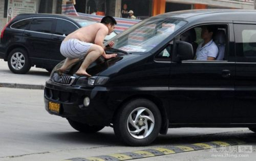 hood of car