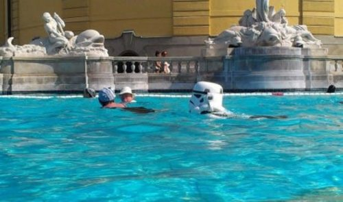 storm troopers swimming