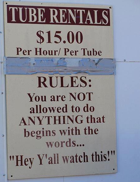 tube rental