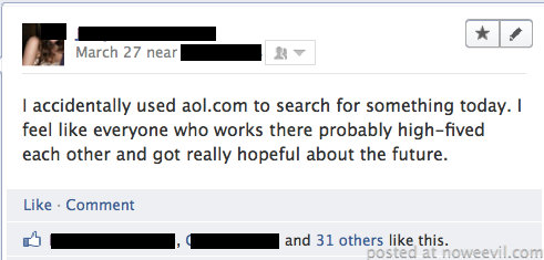 aol facebook post