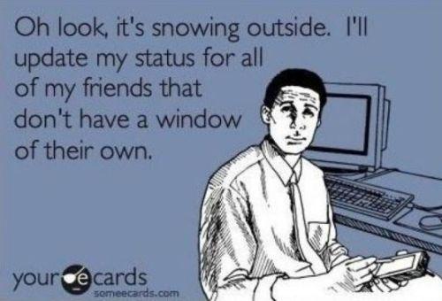 facebook snow