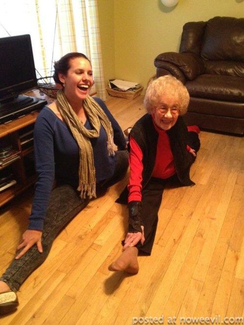 grandma splits