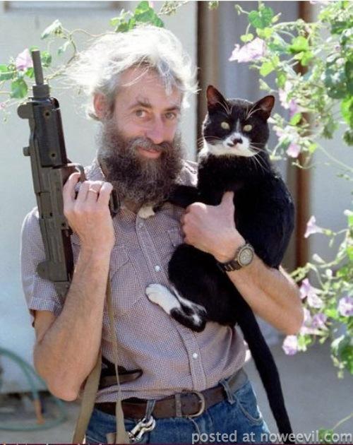 guy uzzi and cat