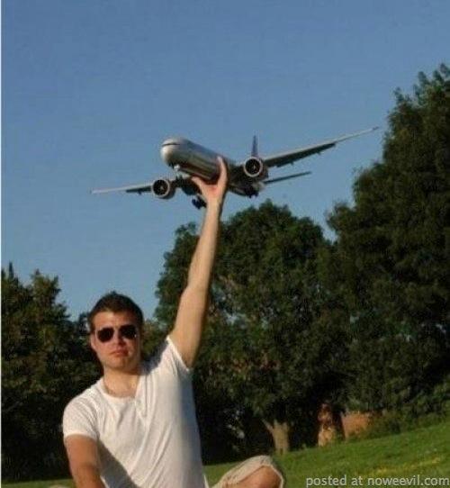 hand on plane