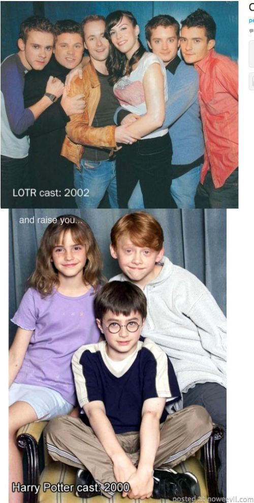 harry potter and lotr cast