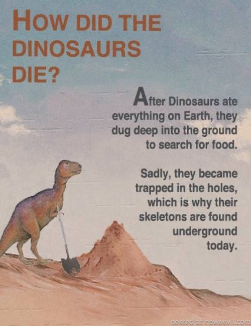 how did dinasoars die